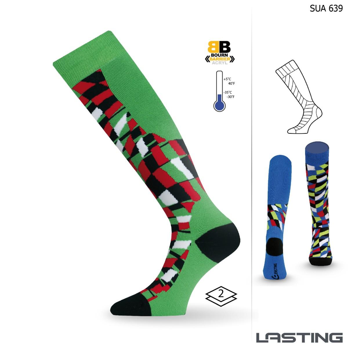 Snowboard ponožky SUA 639 zelená