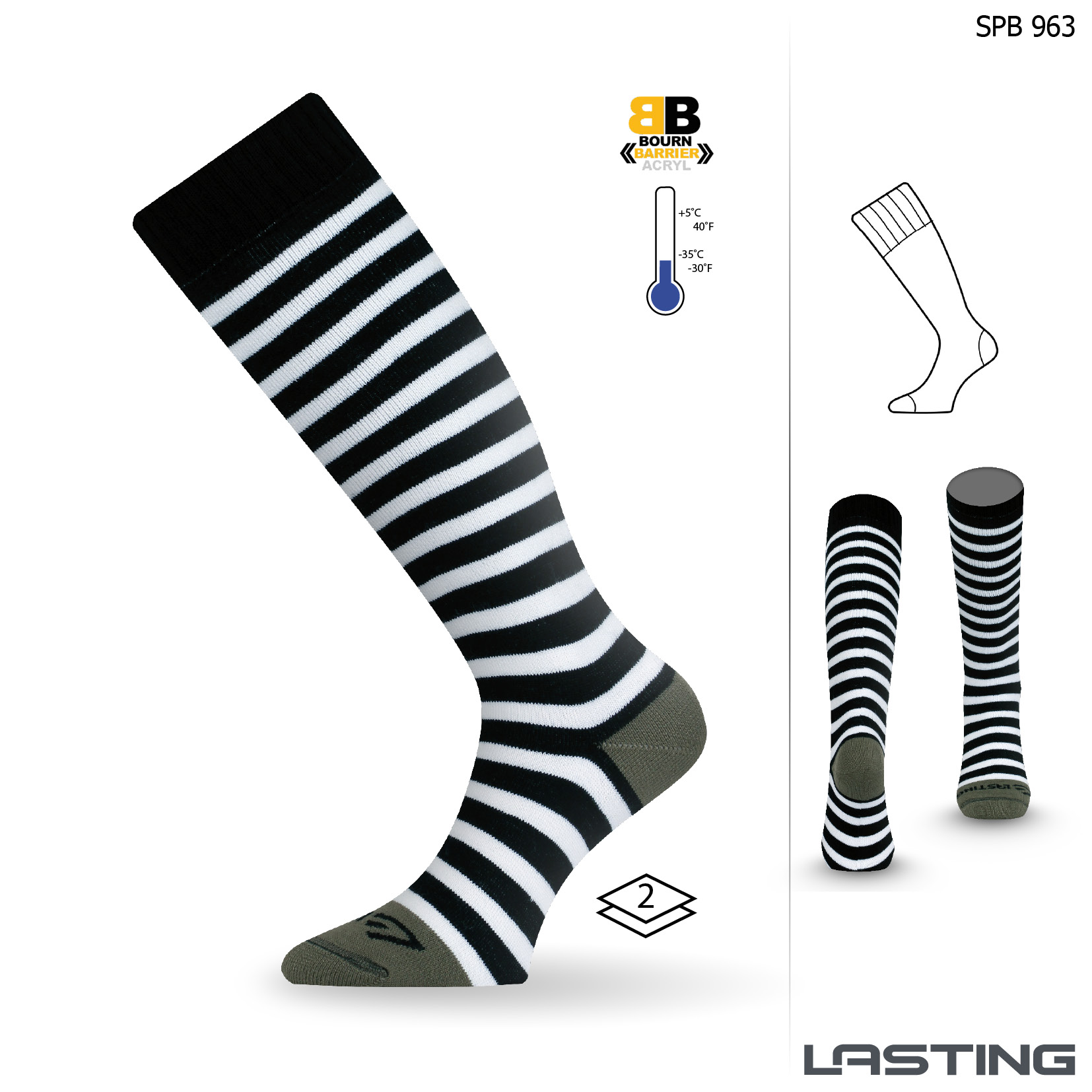 Snowboard ponožky SPB 963